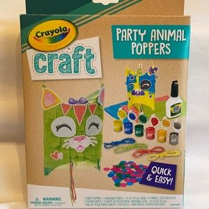 3/$15 Crayola Craft Party Animal Poppers Craft Kit